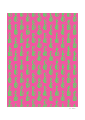 Pineapples - Pink & Green #464