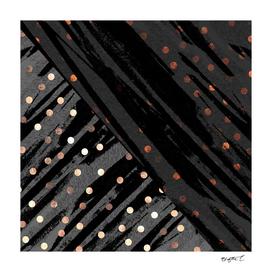 Elegant Contemporary Silver Zebra Polka Dots Pattern