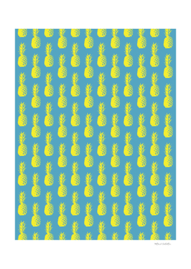 Pineapples - Light Blue & Yellow #947