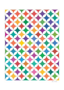 Geometric Star Pattern - Rainbow #795