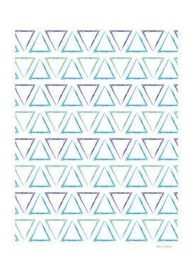 Triangular Peaks Pattern - Blue, Green & Purple #184