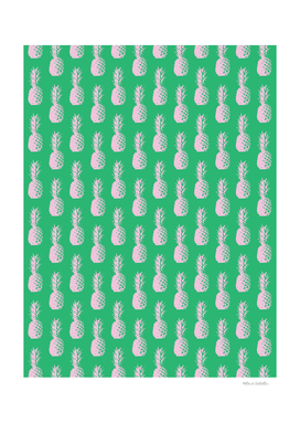 Pineapple Pattern - Green & Light Pink #945