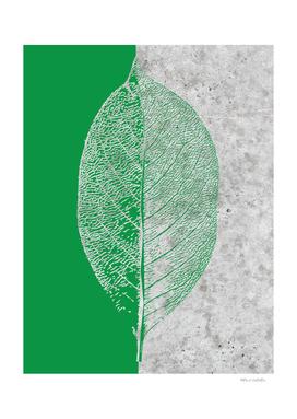 Natural Outlines - Leaf Green & Concrete #774