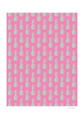 Pineapple Pattern - Pink & Light Green #164