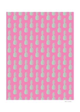 Pineapple Pattern - Pink & Light Green #164