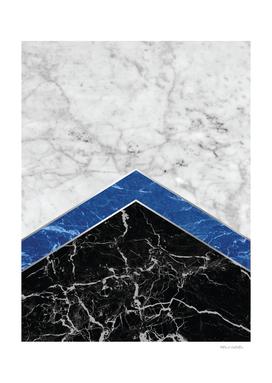 Arrows - White Marble, Blue Granite & Black Granite #974