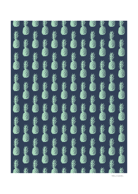 Pineapple Pattern - Dark Blue & Light Green #581