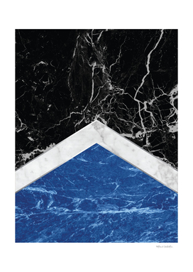 Arrows - Black Granite, White Marble & Blue Granite #227
