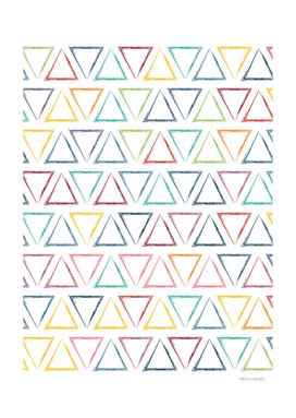 Triangular Peaks Pattern - Rainbow #622