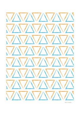 Triangular Peaks Pattern - Orange & Blue #332