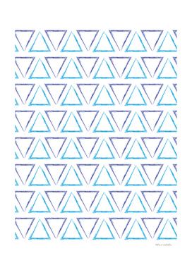 Triangular Peaks Pattern - Purple & Blue #238