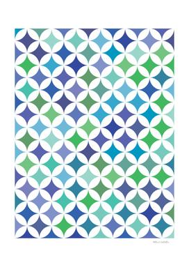 Geometric Star Pattern - Sea Foam #477