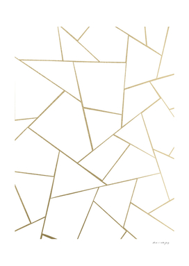 Gold White Geometric Glam #1 #geo #decor #art