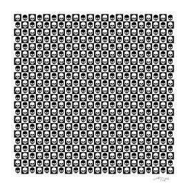 💀 Checkered Skulls Pattern I