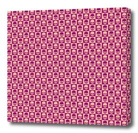 💀 Checkered Skulls Pattern II