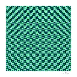 💀 Checkered Skulls Pattern III