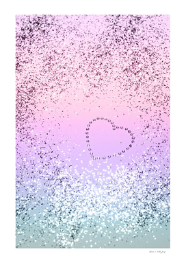 Sparkling UNICORN Girls Glitter Heart #1 #shiny #pastel
