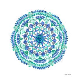 Mandala in cool colours
