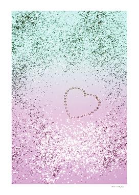 Mermaid Lady Glitter Heart #4 #decor #art