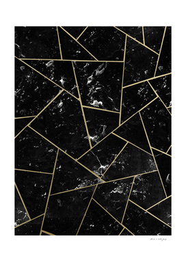 Black Marble Gold Geometric Glam #1 #geo #decor #art