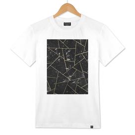 Black Marble Gold Geometric Glam #1 #geo #decor #art