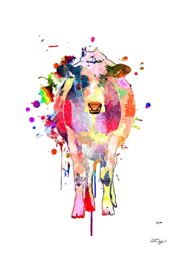 Cow Colored Art