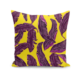 Tropical  leaves magenta yellow