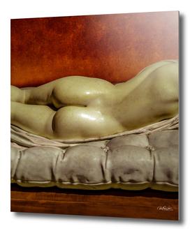 Woman on Bed Sensual Scene