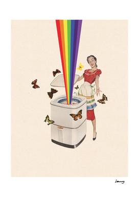 Rainbow Washing Machine