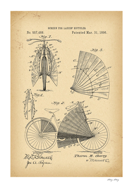 1896 Patent Velocipede Bicycle archival history invention