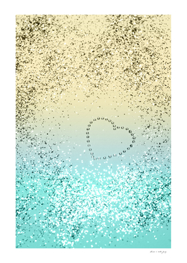 Sparkling Lemon Twist Beach Glitter Heart #1 #shiny #decor