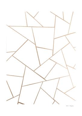 Rose Gold White Geometric Glam #1 #geo #decor #art