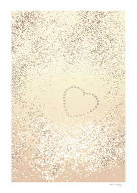 Sparkling GOLD Lady Glitter Heart #3 #decor #art