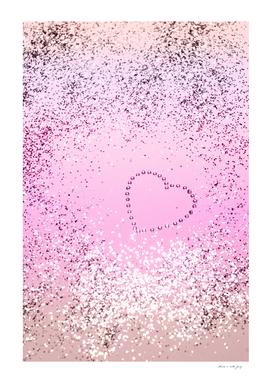 Sparkling UNICORN Girls Glitter Heart #1 #decor #art