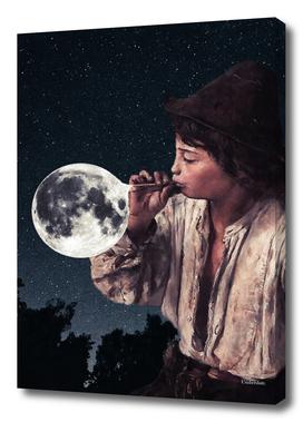 Blowing moon bubbles ...