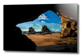 Beach Cave Windows Wallpaper inspired art
