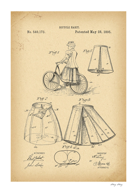 1895 Patent Velocipede Bicycle archival history invention