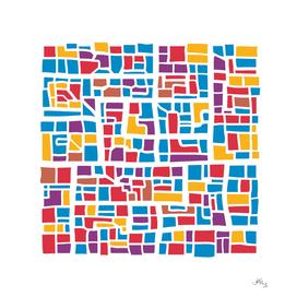 Multicolor city plan