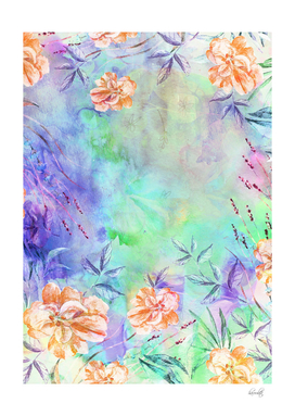 floral alcohol ink painting xcc