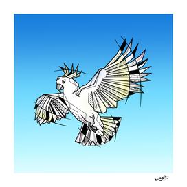 Cockatoo flying illustration