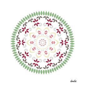 Mandala in soft pastel colors
