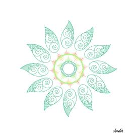 Floral Mandala in soft pastel colors