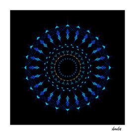 Sacred Geometry radial Mandala