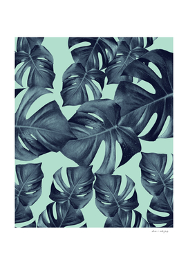 Monstera Leaves Pattern #10 #tropical #decor #art