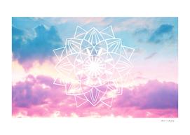 Star Mandala Unicorn Pastel Clouds #3 #decor #art