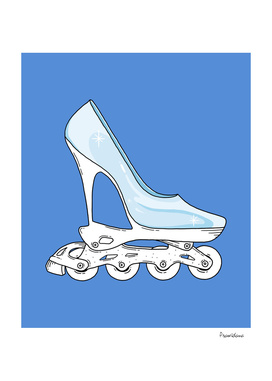 Roller glass shoes