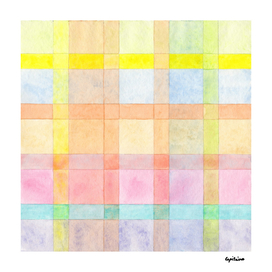 Pastel colored Watercolors Check Pattern