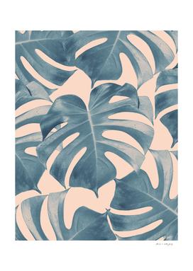 Tropical Monstera Leaves Dream #5 #tropical #decor #art