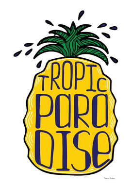 Illustration of a pineapple with a lettering.