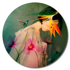 Woman between flowers / La mujer entre las flores